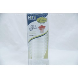 Lillian Flared Mousse Cup Clear Plastic 12 Pieces