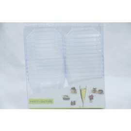 Party Couture Clear Square Mousse Cup with Cover 12/PK