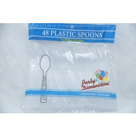 Party Dimensions 48 Plastic Spoons Washable Reusable