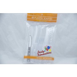 Party Dimensions 48 Plastic Knives Washable Reusable