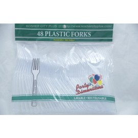 Party Dimensions 48 Plastic Forks Washable Reusable
