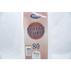 Dining Collection 80 Plastic Cups 9oz