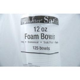 Placesetter Satin Foam Bowls 12oz 125 Bowls