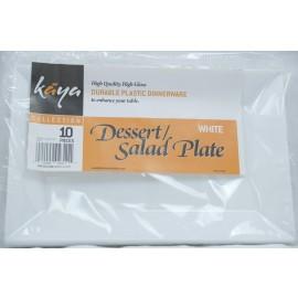 Kaya White Dessert/Salad Plate 10 Pcs