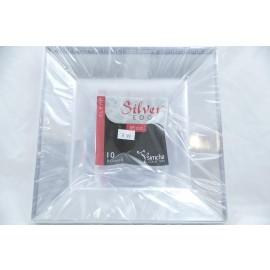 Simcha Silver Edge Clear 12oz Bowls 10 pcs