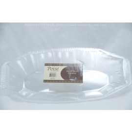 Poise Clear Plastic Fruit Tray 5ct