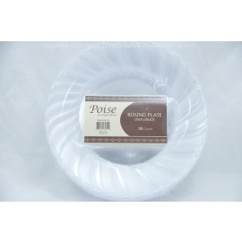 "Poise 6"" Round Plate Clear 18ct"