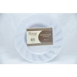 "Poise 7.5"" Round Plate Clear 18ct"