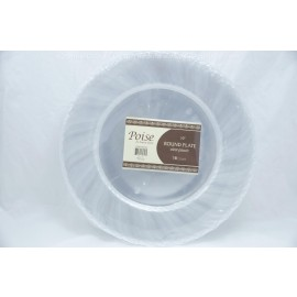 "Poise 10"" Round Plate Clear 18ct"