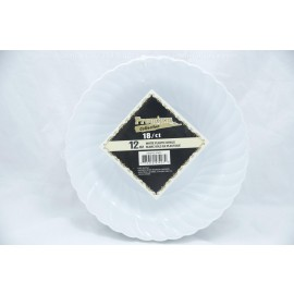 Premium Collection 12oz White Plastic Bowls 18ct