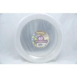 """Plastico 10.25"""" Plastic Plates 40ct"""