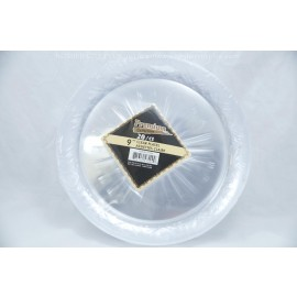 "Premium Collection 9"" Clear Plastic 20ct"