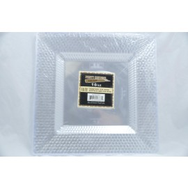 "Premium Collection 10.75"" Square Plates 10ct"