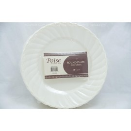 "Poise 6"" Round Plate Bone 18ct"
