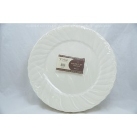 "Poise 10"" Round Plate Bone 18ct"