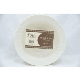 Poise 12oz Bone Round Bowl 18ct