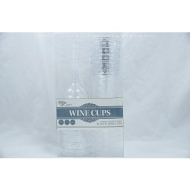 Decor Plastic Wine Cups 10oz Set of 10