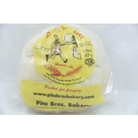 Pita Bros Regular White Pita Bread 5 Pitas Peanut Free Pas Yisroel 425g