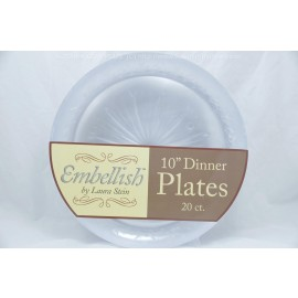 "Embellish Clear Dinner Plates 10"" 20ct"