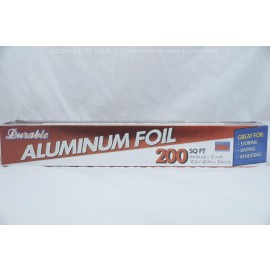Durable Aluminum Foil 200 sq ft 66.66 yds x 12 in