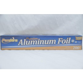 Pandora Premium Aluminum Foil 200 sq ft 66.67 yds x 12 in