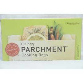 PaperChef Cooking Bags Culinary Parchment 8 in x x3.25 in x 12.75 in 10 Easy- Prep Bags