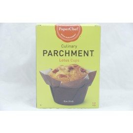 PaperChef Lotus Cups Culinary Parchment Non-Stick 12  cups