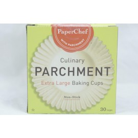 PaperChef Extra Large Baking Cups Culinary Parchment Non-Stick 30 cups