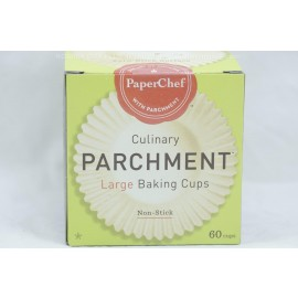 PaperChef Large Baking Cups Culinary Parchment Non-Stick 60 cups