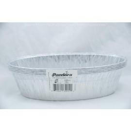 Padandora Aluminum Foil Oval  3 Lb Loaf (Challa)  5 Pack