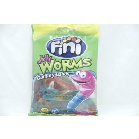Fini Jelly Worms Gummy Candy Gluten Free Fat Free 3.5oz (100g)