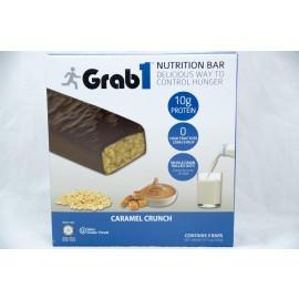 Grab1 Caramel Crunch  Nutrition Bar Dairy Cholov Yisroel 5 Bars 235g