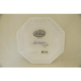 "Lillian Lacetagon 7.25"" Plates 10ct."
