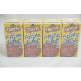 Gefen Apple Juice Box 4pk