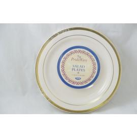 Prideware Salad Plates Gold  7.5 inch 10pk