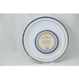Prideware Dessert Plates Silver 6 inch 10pk