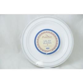 Prideware Salad Plates Silver 7.5 inch 10pk