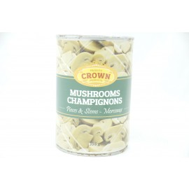 Crown Mushrooms Pieces & Stems