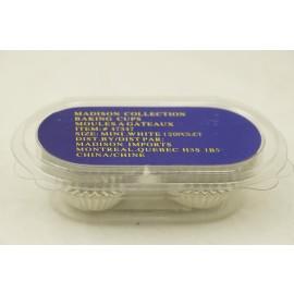 Madison Collection Baking Cups Mini White 120 pcs