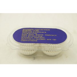 Madison Collection Baking Cups Mini White 200ct
