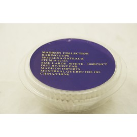 Madison Collection Baking Cups Large White 100ct