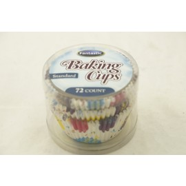 Fantastic Baking Cups Standard Happy Birthday 72cts