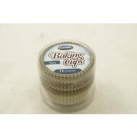 Fantastic Baking Cups Mini Linear Gold 72cts