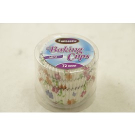 Fantastic Baking Cups Mini Floral 72cts