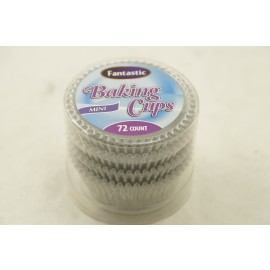 Fantastic Baking Cups Mini Foil Silver 72cts