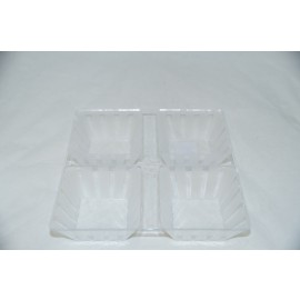 Clear 4 Section Tray