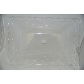 Large Rectangle Clear Tray 12x18