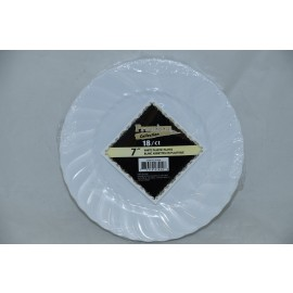 "Premium Collection 7"" White Plastic Plates 18cts"