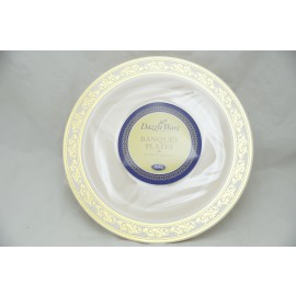 "Dazzleware Collection Banquet Plates 10.25"" 10cts in Gold"