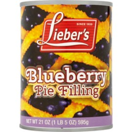 Lieber's Blueberry Pie Filling 21oz (1lb) 595g